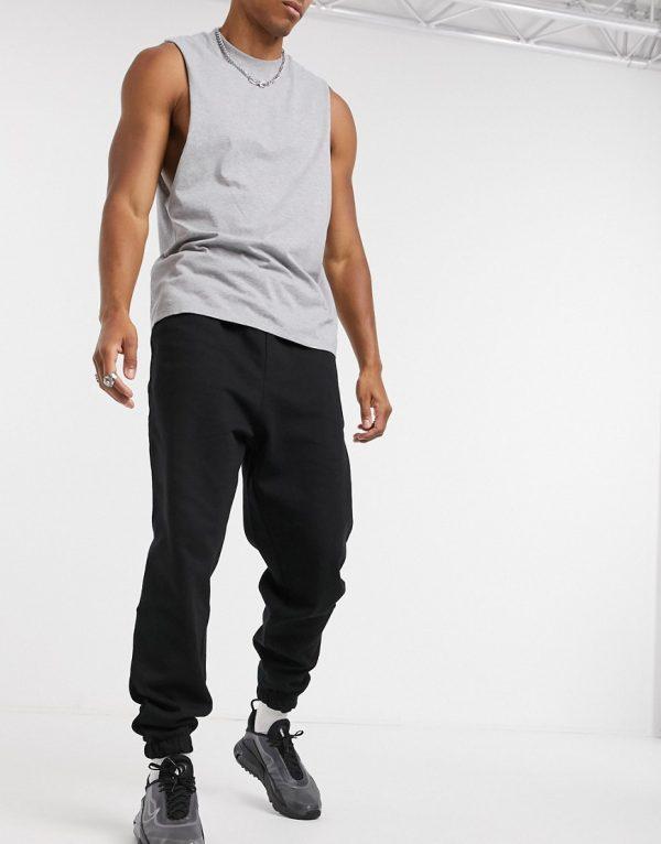 ASOS DESIGN oversized sweatpants in black