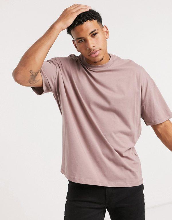 ASOS DESIGN oversized t-shirt in purple