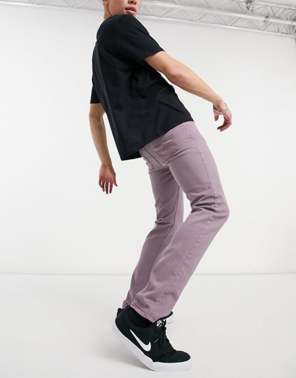 ASOS DESIGN skinny jeans in dark lilac-Purple