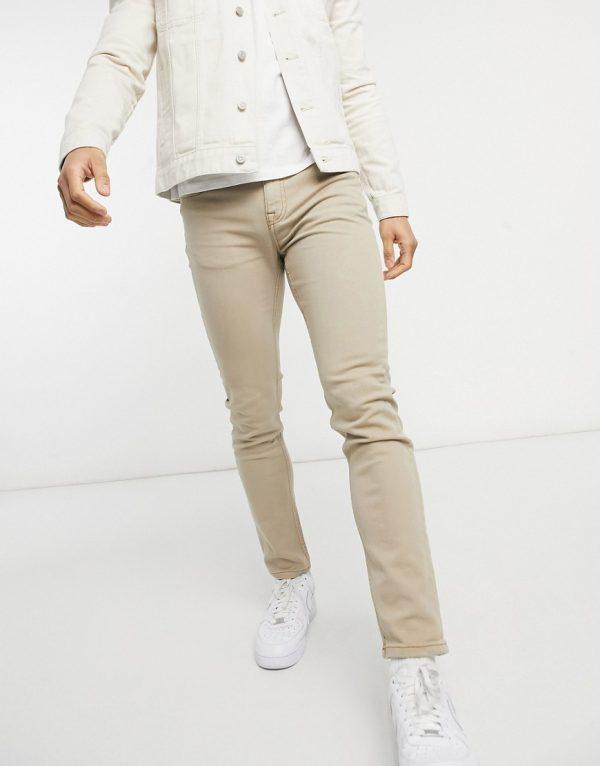 ASOS DESIGN skinny jeans in stone