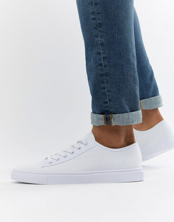 ASOS DESIGN sneakers in white canvas