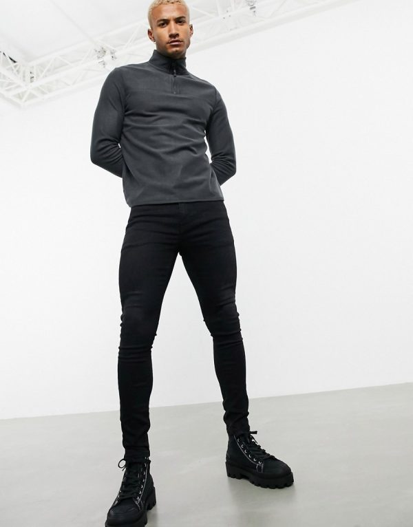 ASOS DESIGN spray on jeans in power stretch in washed black