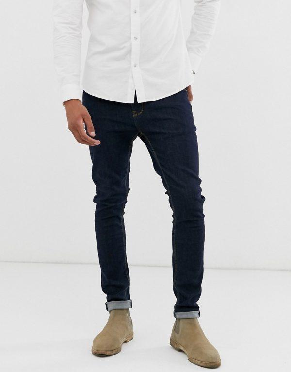 ASOS DESIGN super skinny jeans in indigo-Blues