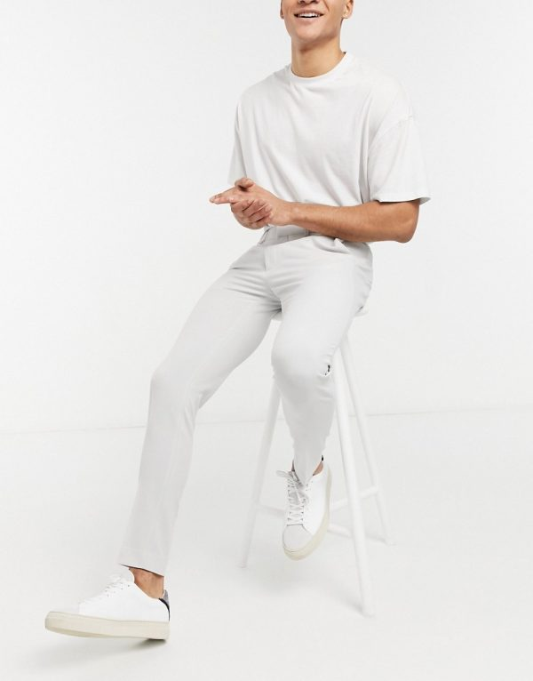 ASOS DESIGN super skinny suit pants in ice gray-Grey