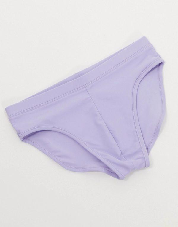 ASOS DESIGN swim briefs in lilac-Purple