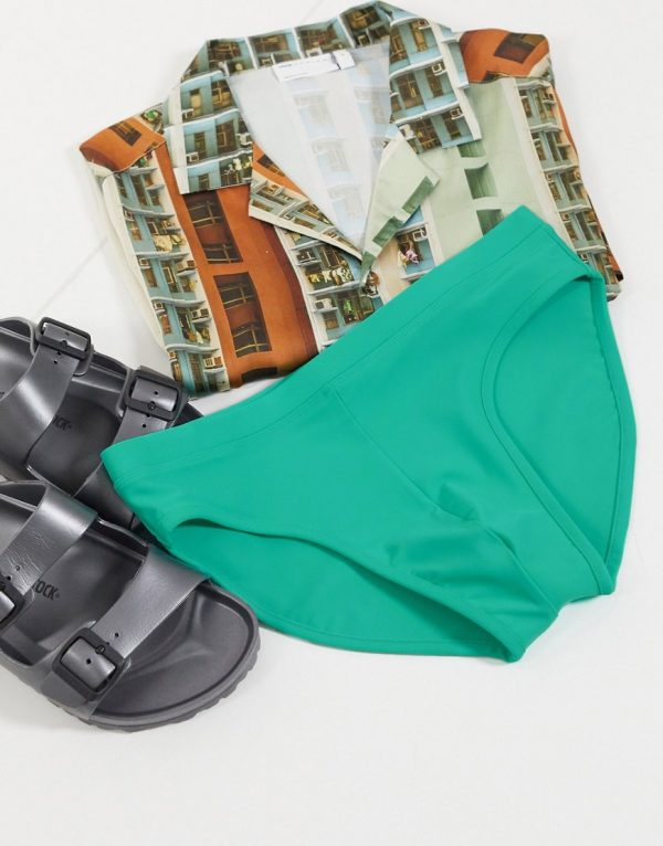 ASOS DESIGN swim briefs in turquoise-Blues