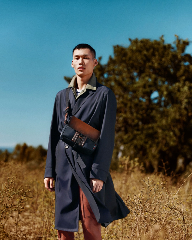 Stepping outdoors, Chun Soot appears in Bally's spring-summer 2021 campaign.