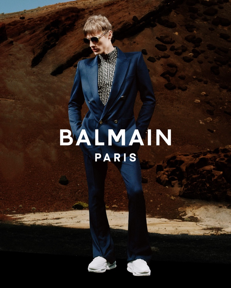 Balmain enlists Braien Vaiksaar as the star of its spring-summer 2021 men's campaign.