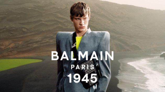 Braien Vaiksaar stars in Balmain's spring-summer 2021 men's campaign.