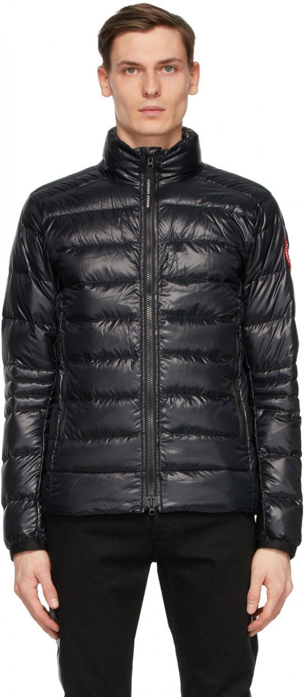Canada Goose Black Down Packable Crofton Jacket