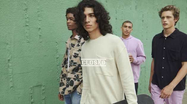 Caleb Elijah, Ernesto Cervantes, Tristan Stovall, and Elijah Claxton showcase summer style from Closed.