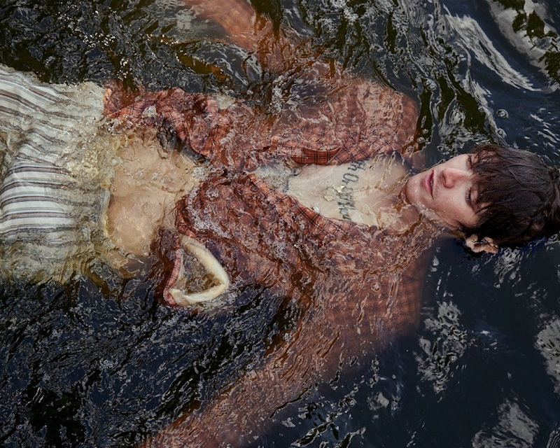 Submerged in water, Conrad Leadley fronts Club of Gent's spring-summer 2021 season.