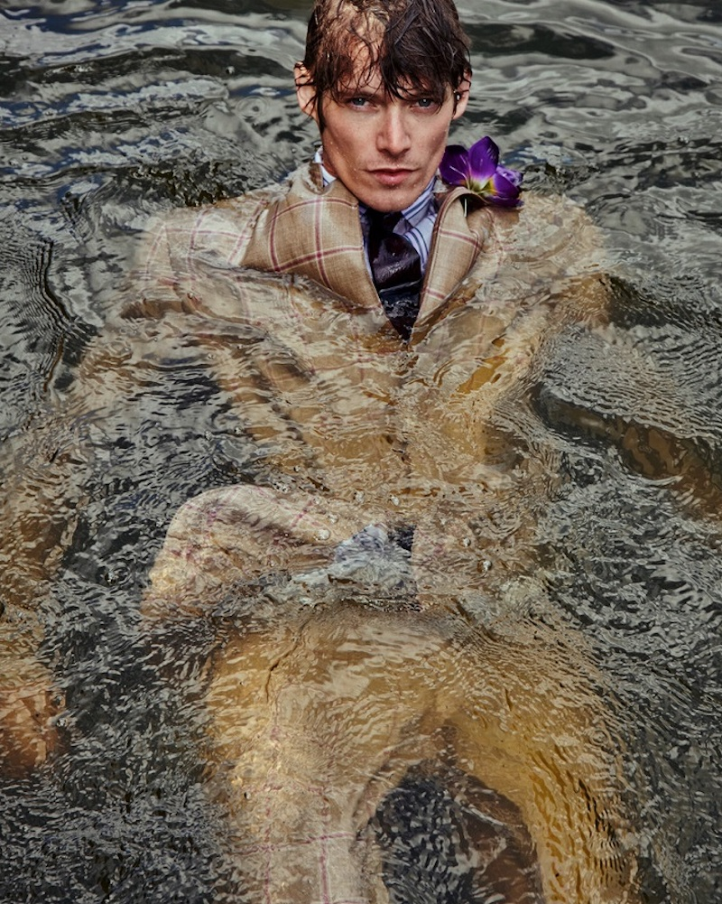 Front and center, Conrad Leadley is the face of Club of Gents' spring-summer 2021 collection.