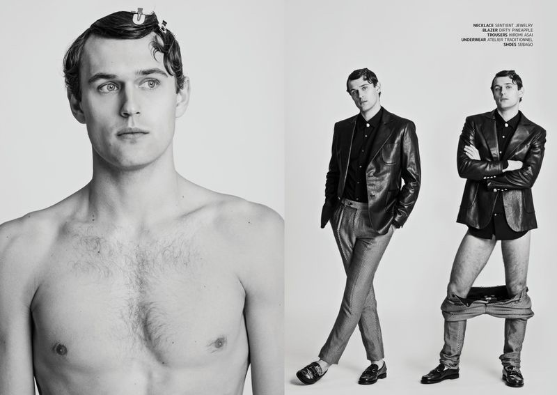 Conor Fay Gets Dressed for JON Magazine