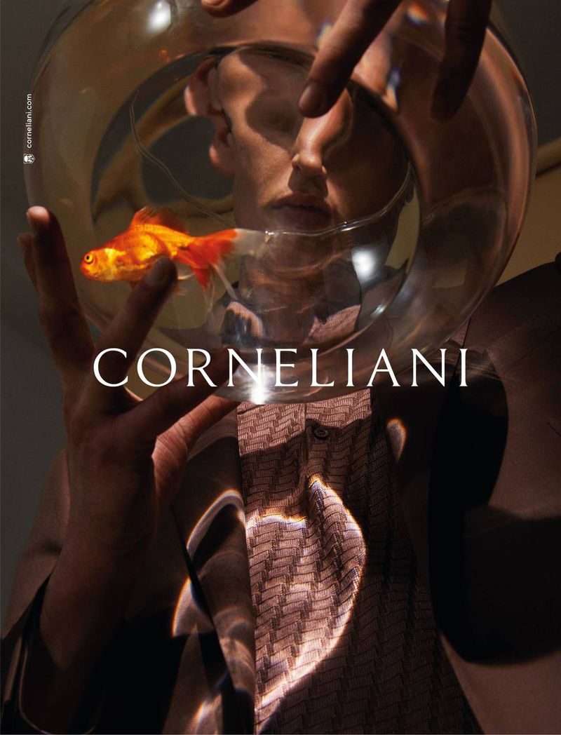 Offering a quirky flair to the season, Anatol Modzelewski appears in Corneliani's spring-summer 2021 campaign.