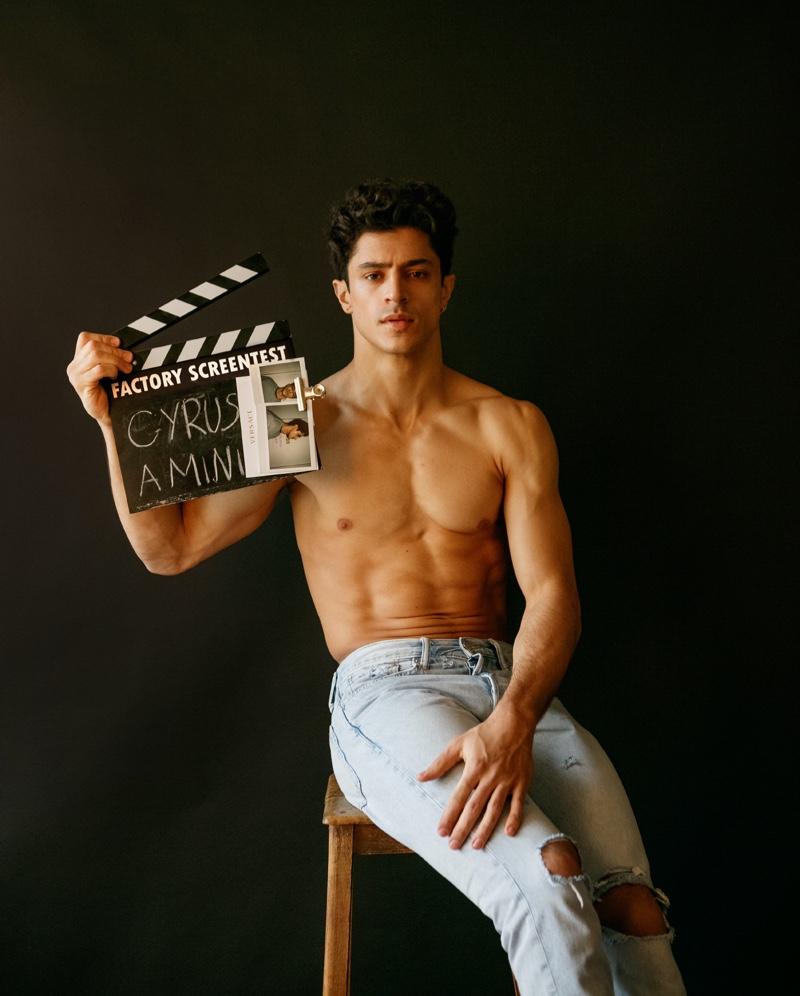 Cyrus Amini Has a Screen Test for FACTORY Fanzine