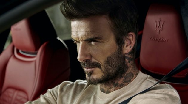 David Beckham stars in a new campaign for Maserati.