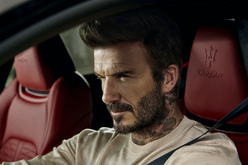David Beckham stars in a new campaign for Maserati.