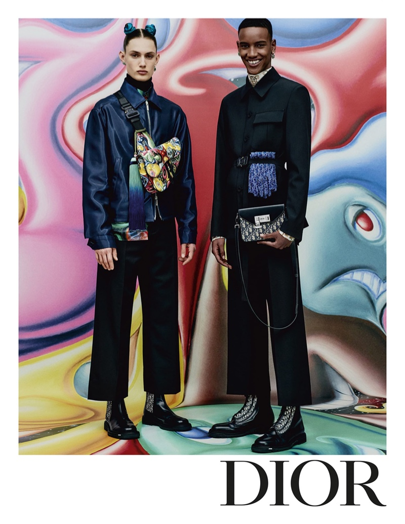 Thatcher Thornton and Ibrahim Mohamed appear in Dior Men's pre-fall 2021 campaign.