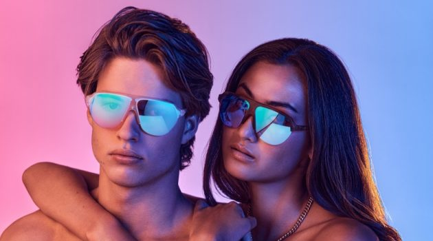 Models Harry Algar and Kawani Prenter star in the Dreamers eyewear Sleep campaign.