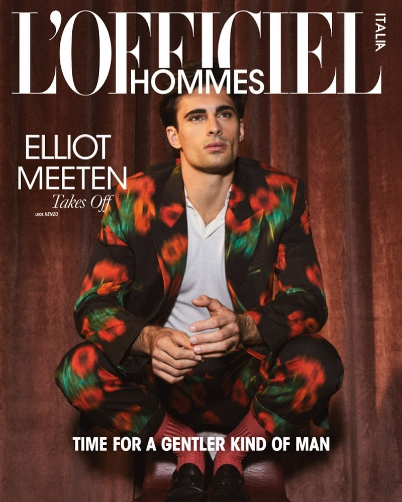 Elliot Meeten covers the spring 2021 edition of L'Officiel Hommes Italia.