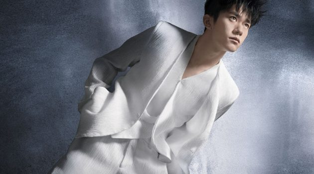 Chinese entertainer Jackson Yee appears in Emporio Armani's spring-summer 2021 campaign.