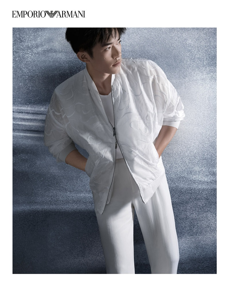 Emporio Armani enlists Jackson Yee as the star of its spring-summer 2021 campaign.