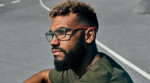 Eric Maxim Choupo-Moting stars in Puma's spring-summer 2021 eyewear campaign.