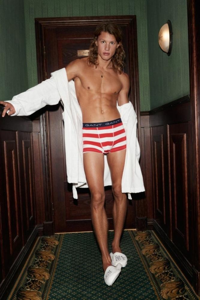 Eliott Tipp Stars in GANT Spring Underwear Campaign