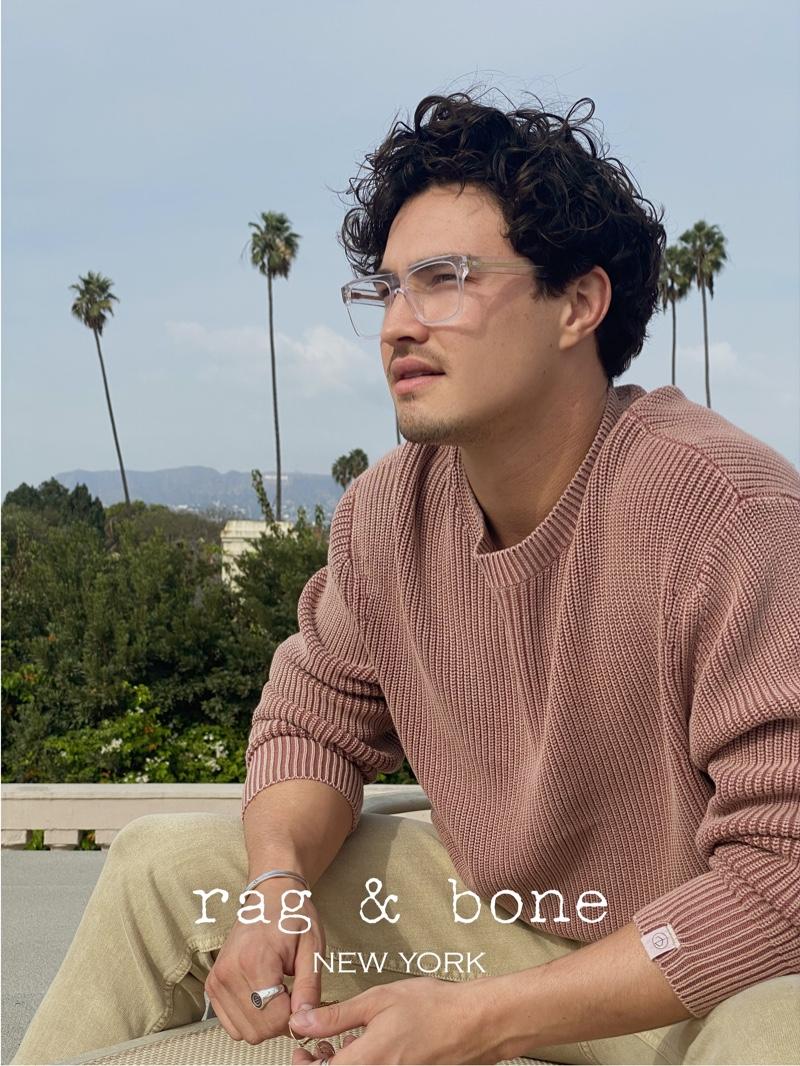 Rag & Bone enlists Gavin Leatherwood to star in its Eyewear Photo Project.