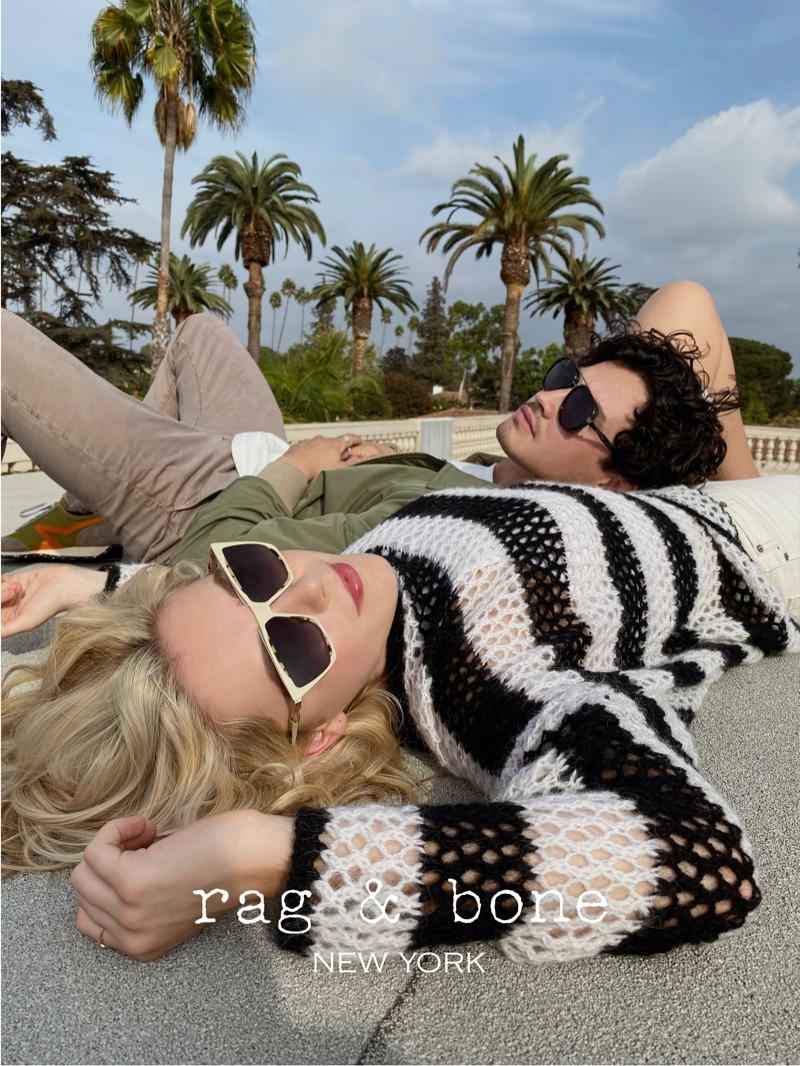 Kiernan Shipka and Gavin Leatherwood appear in Rag & Bone's new Eyewear Photo Project.