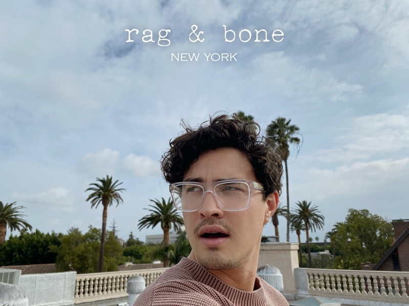 """""""Chilling Adventures of Sabrina"""" actor Gavin Leatherwood connects with Rag & Bone for its Eyewear Photo Project."""