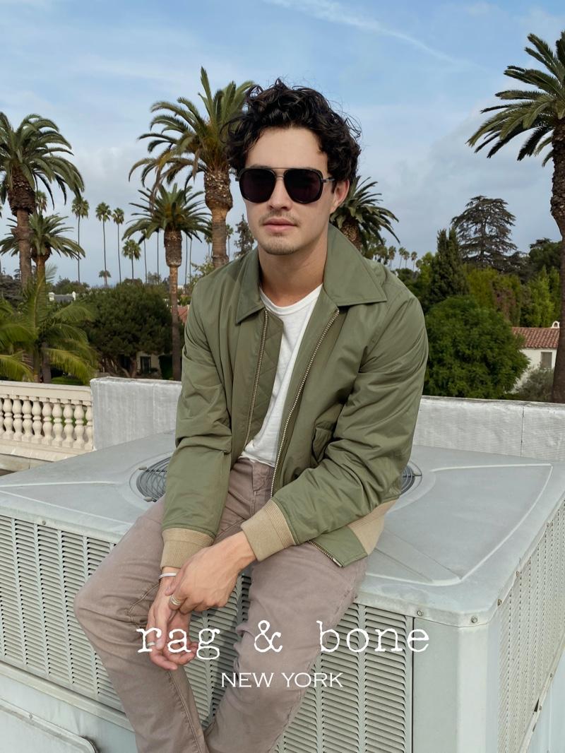 Front and center, Gavin Leatherwood stars in Rag & Bone's Eyewear Photo Project.