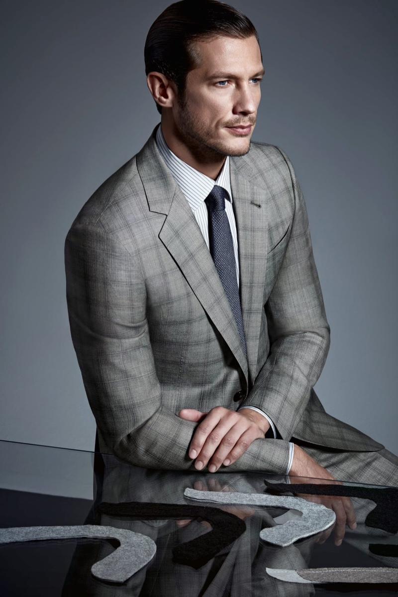 Donny Lewis & Domenique Melchior Front Giorgio Armani Made to Measure Campaign
