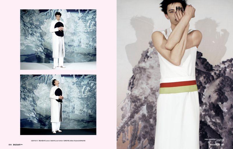 Hang Yu Rocks Modern Style for Harper's Bazaar China Men