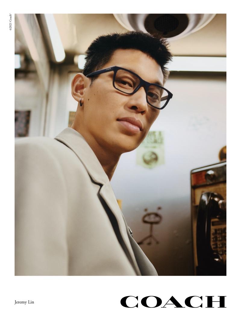 Jeremy Lin stars in Coach's spring 2021 eyewear campaign.
