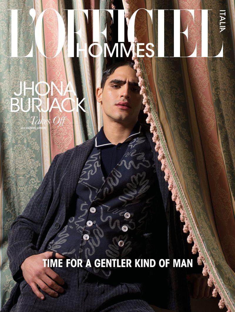 Jhonattan Burjack Inspires in Dandy Style for L'Officiel Hommes Italia