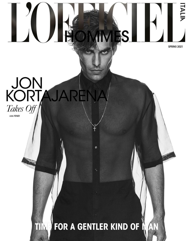 Jon Kortajarena covers the spring 2021 edition of L'Officiel Hommes Italia.