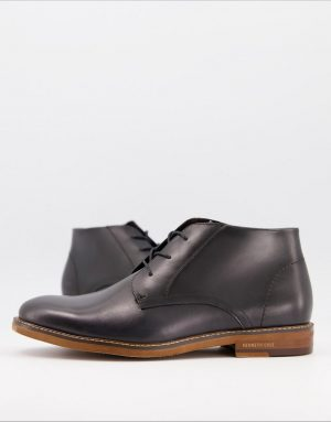 Kenneth Cole dance chukka boots in gray leather-Grey