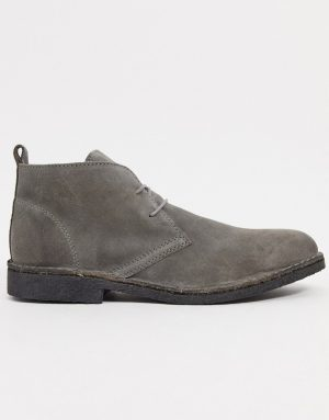 Kenneth Cole hewitt chukka boots in gray suede-Grey
