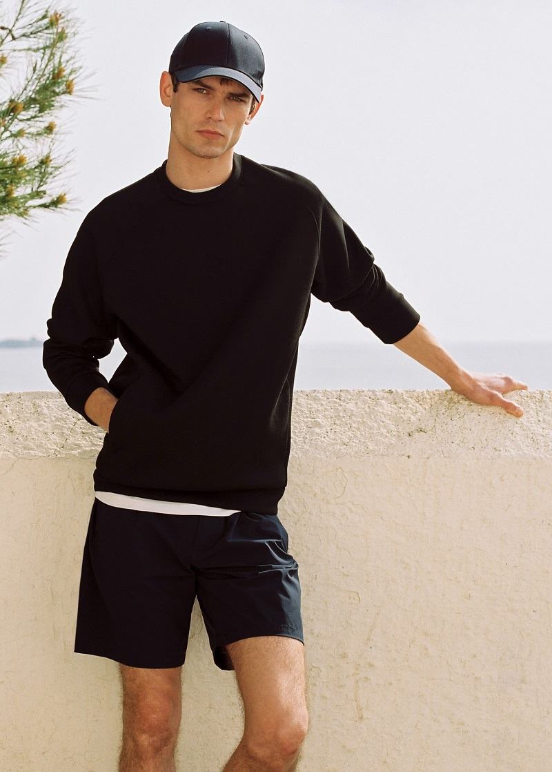 Arthur Gosse sports a casual look from Mango's Leisure collection.