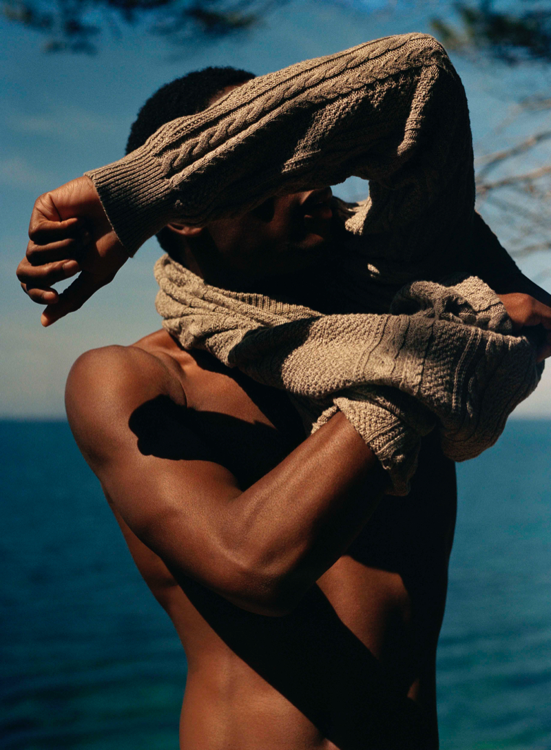 Ronan Gallagher photographs Hamid Onifade for Mango Committed.