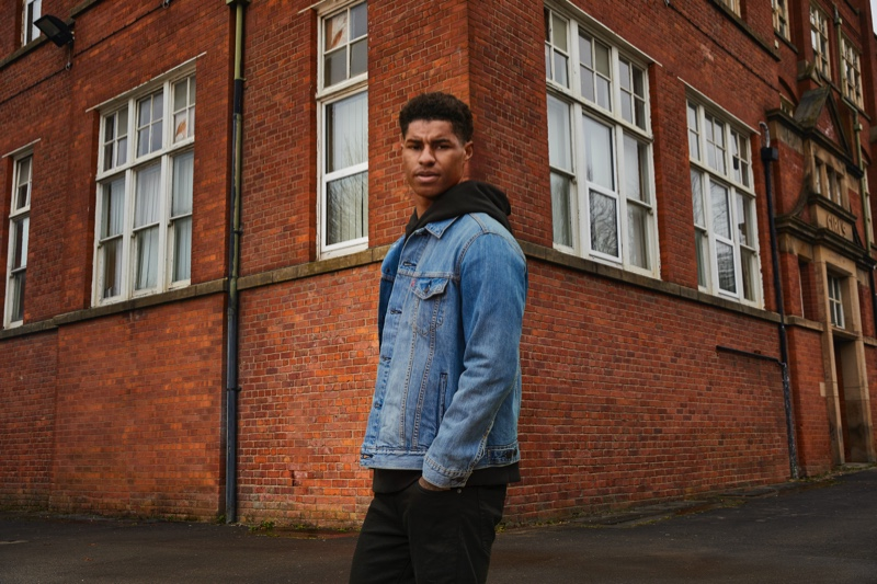 Marcus Rashford fronts Levi's Buy Better, Wear Longer campaign.