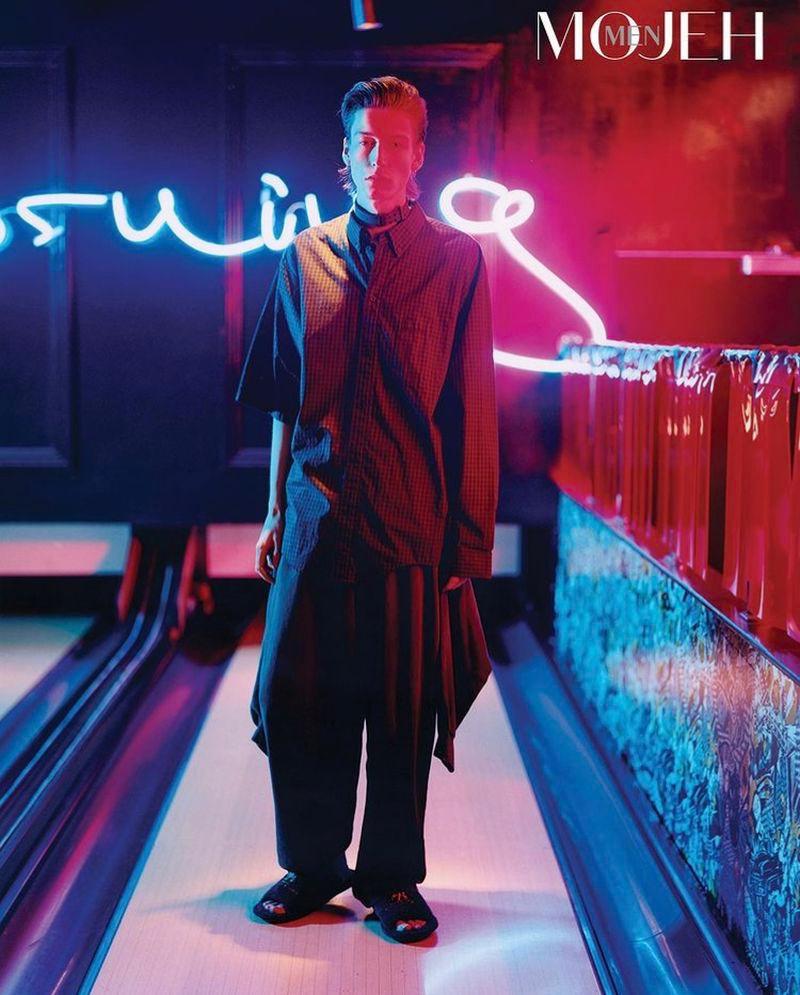 Nick Fortna Rocks Balenciaga for Mojeh Cover Shoot