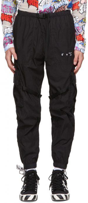 Off-White Black Cotton Cargo Pants