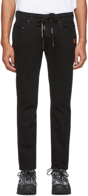 Off-White Black Diag Skinny Jeans