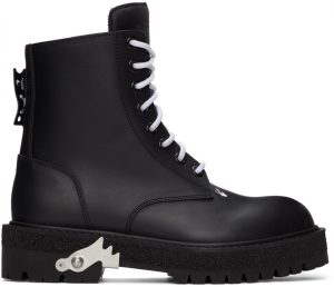 Off-White Black Hike Logo Boots
