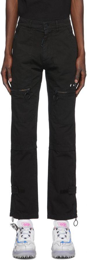 Off-White Black Slim Cargo Pants