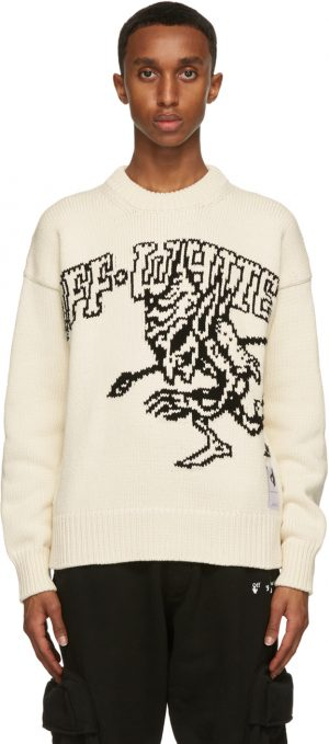Off-White Off-White 'For The Nature' Elfin Sweater