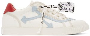Off-White Off-White & Blue New Vulcanized Low Sneakers